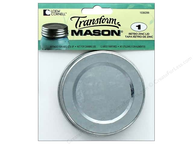 Ball Transform Mason Accessories Retro Zinc Lid
