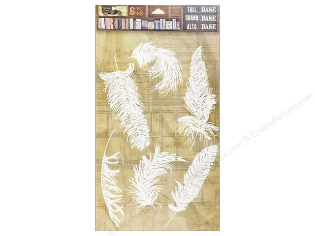 7 Gypsies Collection Architextures Tall Base Feathers