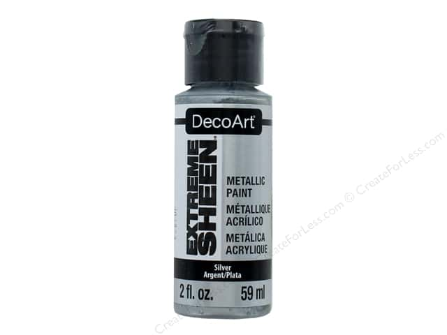 Decoart Extreme Sheen Metallic Paint 2 oz. Silver