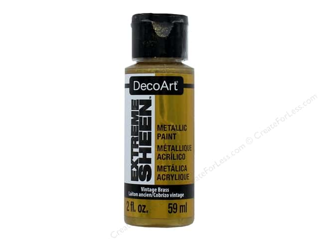 Decoart Extreme Sheen Metallic Paint 2 oz. Vintage Brass