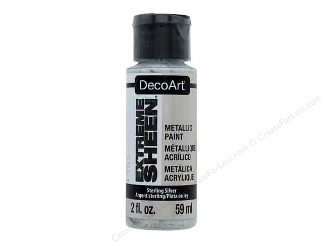Decoart Extreme Sheen Metallic Paint 2 oz. Sterling Silver