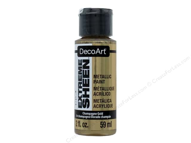 Decoart Extreme Sheen Metallic Paint 2 oz. Champagne Gold