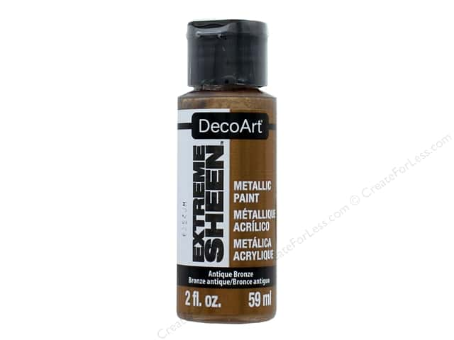 Decoart Extreme Sheen Metallic Paint 2 oz. Antique Bronze