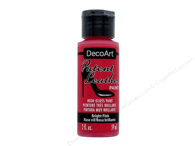 Decoart Patent Leather Paint 2 oz. Bright Pink