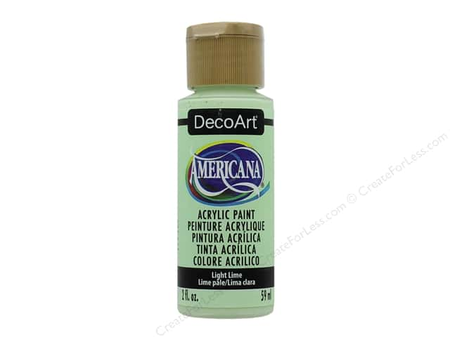 DecoArt Americana Acrylic Paint 2 oz. #348 Light Lime