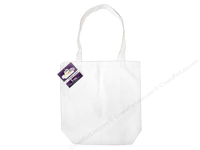 Tulip Color Me Canvas Shoulder Tote Blank White