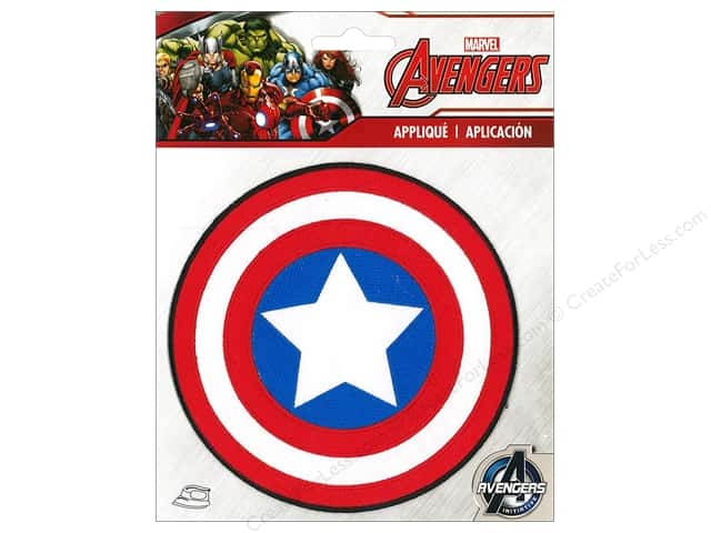 Simplicity Applique Marvel Iron On Large Captain America Logo