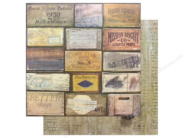 "7 Gypsies Collection Architextures Paper 12""x 12"" Stenciled Crates (15 pieces)"