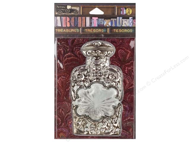 7 Gypsies Collection Architextures Treasures Silver & Glass Bottle