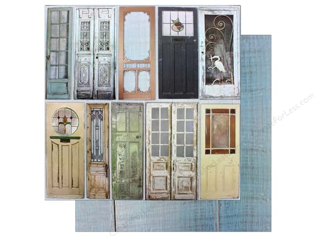 "7 Gypsies Collection Architextures Paper 12""x 12"" Painted Doors (15 pieces)"