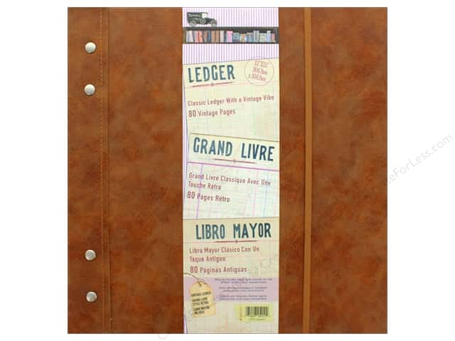 "7 Gypsies Collection Architextures Ledger Notebook 12""x 12"" Leather"