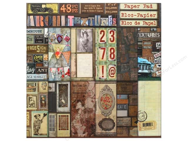 """7 Gypsies Collection Architextures Paper Pad 8""""x 8"""""""