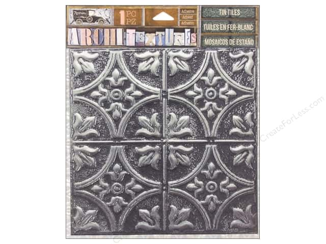 7 Gypsies Collection Architextures Tin Tile Tarnished Silver