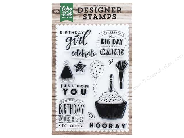 Echo Park Clear Stamp Set Birthday Wishes