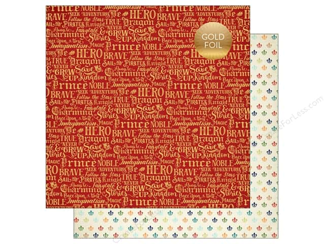 "Echo Park Collection Once Upon A Time Prince Paper 12""x 12"" Charming Words (25 pieces)"