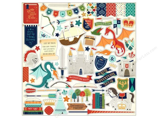 Echo Park Collection Once Upon A Time Prince Sticker Elements (15 pieces)