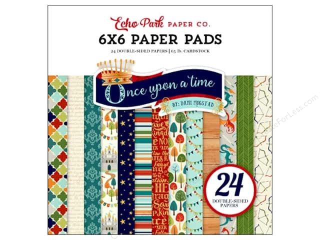 """Echo Park Collection Once Upon A Time Prince Paper Pad 6""""x 6"""""""
