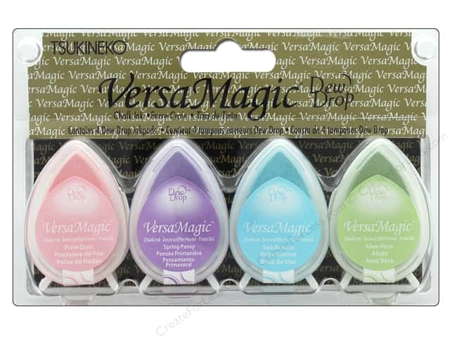Tsukineko VersaMagic Dew Drop Pigment Chalk Ink Pad Set Pastel