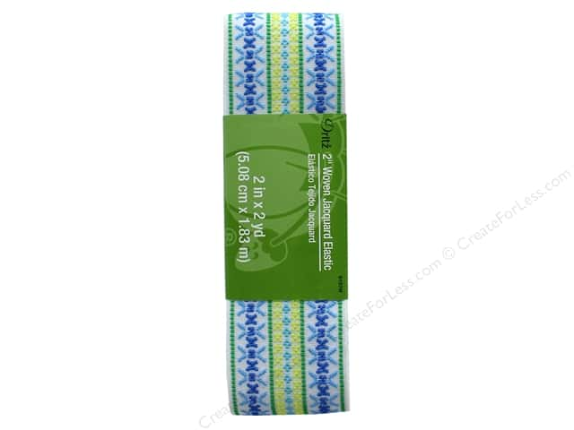 Dritz Woven Jacquard Elastic 2 in. x 2 yd. White