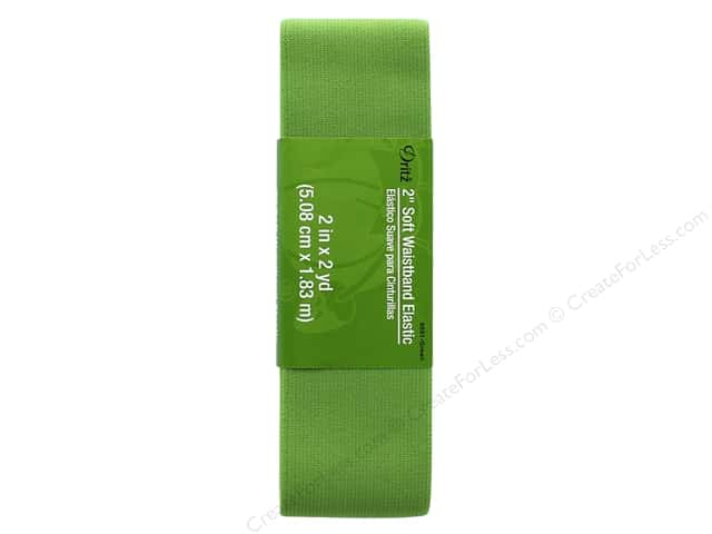 Dritz Soft Waistband Elastic 2 in. x 2 yd. Green