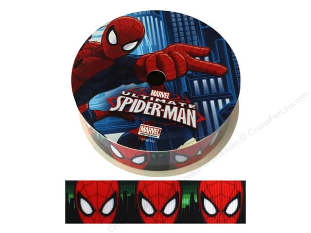 "Simplicity Ribbon Grosgrain 1"" Spiderman Face"