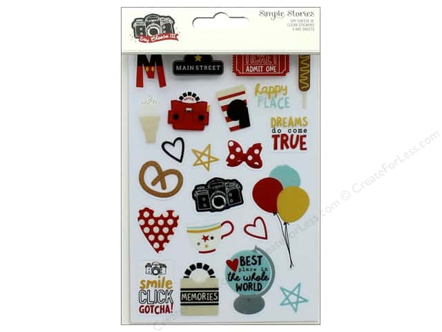 Simple Stories Collection Say Cheese III Sticker Clear