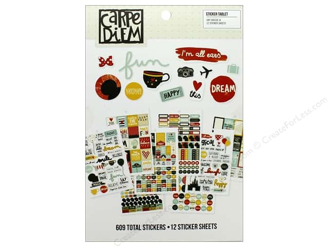 Simple Stories Collection Say Cheese III Carpe Diem Sticker Tablet