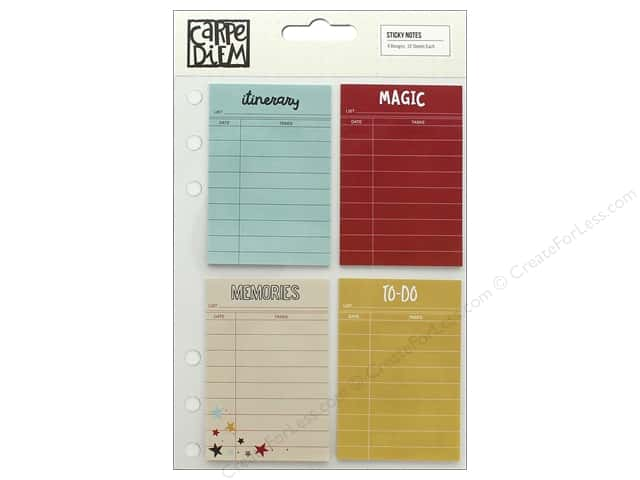 Simple Stories Collection Say Cheese III Carpe Diem Sticky Notes
