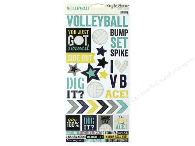 """Simple Stories Collection Volleyball Sticker 6""""x 12"""" (12 pieces)"""