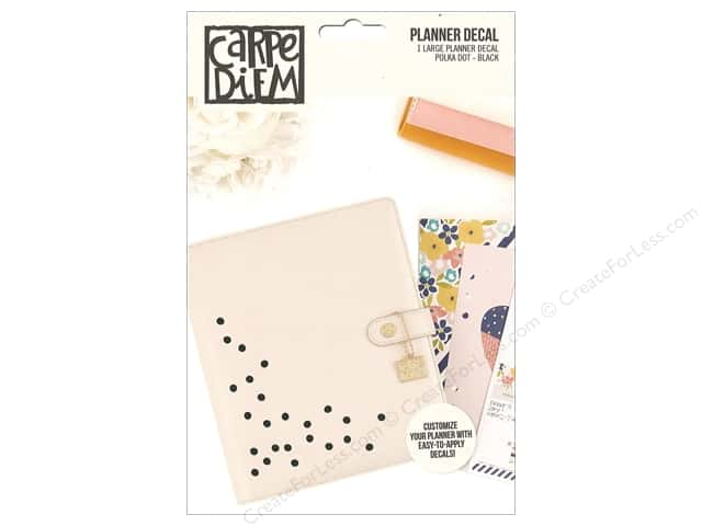 Simple Stories Collection Carpe Diem Planner Decal Large Polka Dot Black