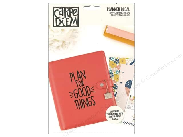 Simple Stories Collection Carpe Diem Planner Decal Large Good Thing Black