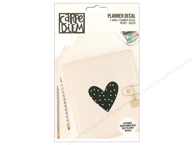 Simple Stories Collection Carpe Diem Planner Decal Small Heart Black