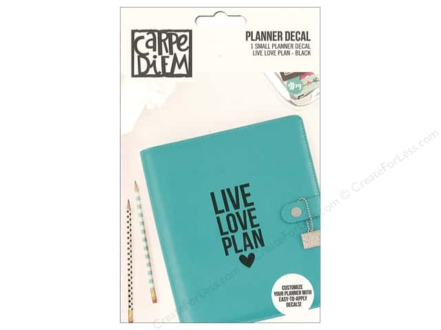 Simple Stories Collection Carpe Diem Planner Decal Small Live Love Plan Black