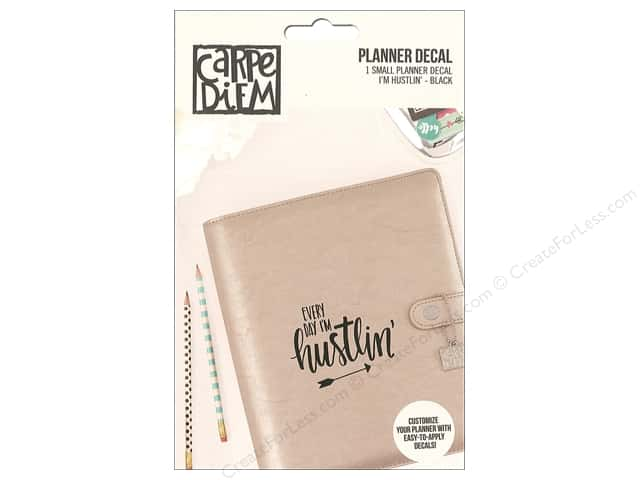 Simple Stories Collection Carpe Diem Planner Decal Small I'm Hustlin Black
