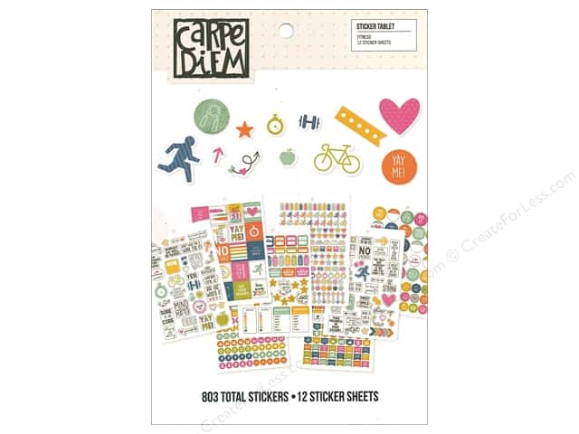 Simple Stories Collection Carpe Diem Sticker Tablet Fitness