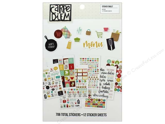 Simple Stories Collection Carpe Diem Sticker Tablet Recipe