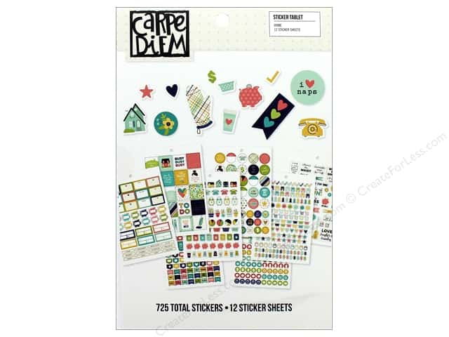 Simple Stories Collection Carpe Diem Sticker Tablet Home