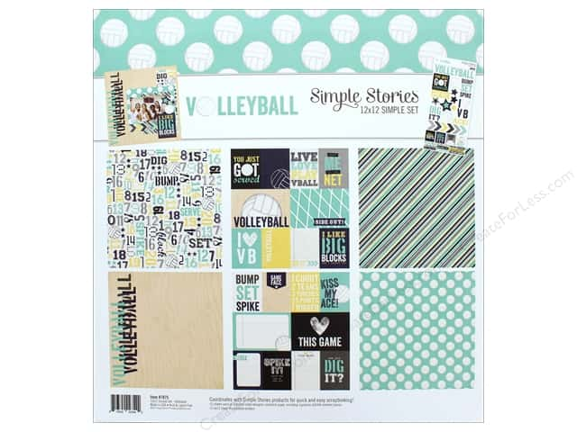 "Simple Stories Collection Volleyball Collection Kit 12""x 12"""