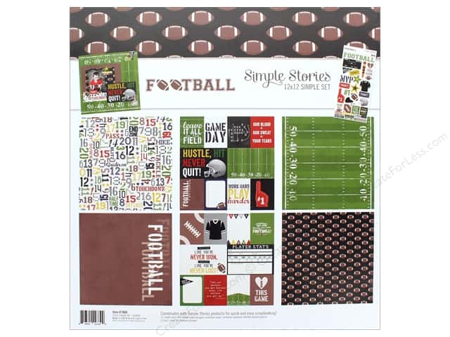 "Simple Stories Collection Football Collection Kit 12""x 12"""