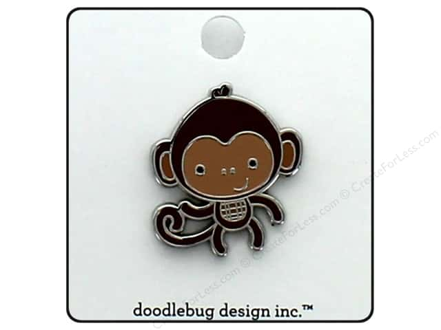 Doodlebug Collection At The Zoo Enamel Pin Monkey