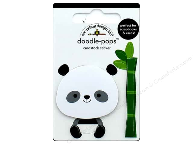 Doodlebug Collection At The Zoo Doodle Pops Polly Panda