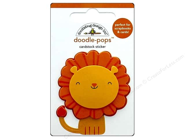 Doodlebug Collection At The Zoo Doodle Pops Leo Lion