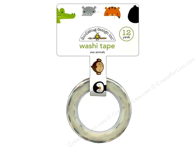 Doodlebug Collection At The Zoo Washi Tape Zoo Animals