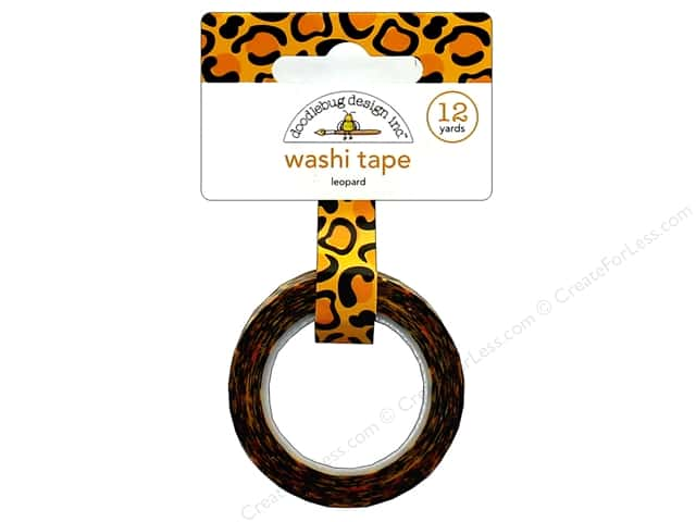 Doodlebug Collection At The Zoo Washi Tape Leopard