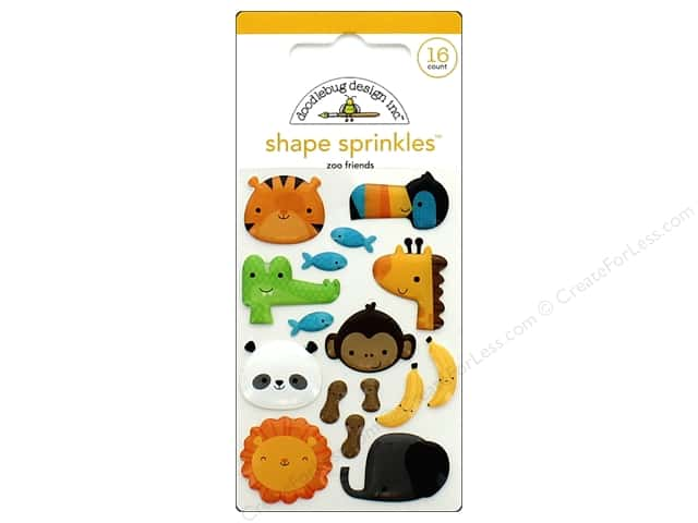 Doodlebug Collection At The Zoo Sprinkles Shapes Zoo Friends