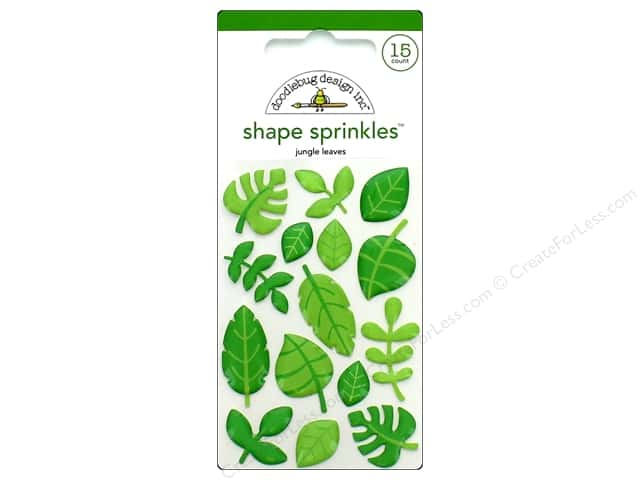 Doodlebug Collection At The Zoo Sprinkles Shapes Jungle Leaves