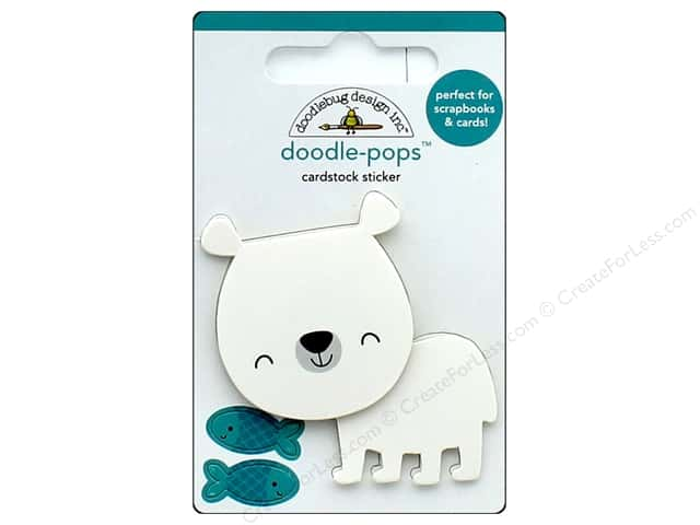 Doodlebug Collection At The Zoo Doodle Pops Patrick Polar Bear