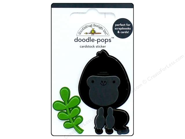 Doodlebug Collection At The Zoo Doodle Pops Gus Gorilla