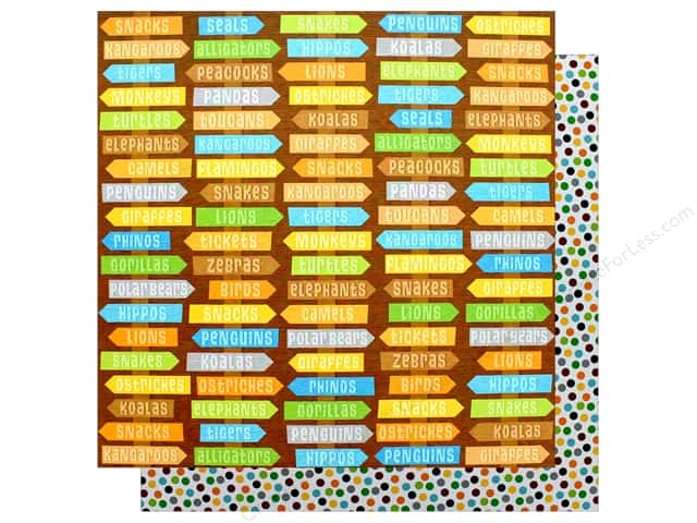 """Doodlebug Collection At The Zoo Paper 12""""x 12"""" Zippity-Zoo Dots (25 pieces)"""