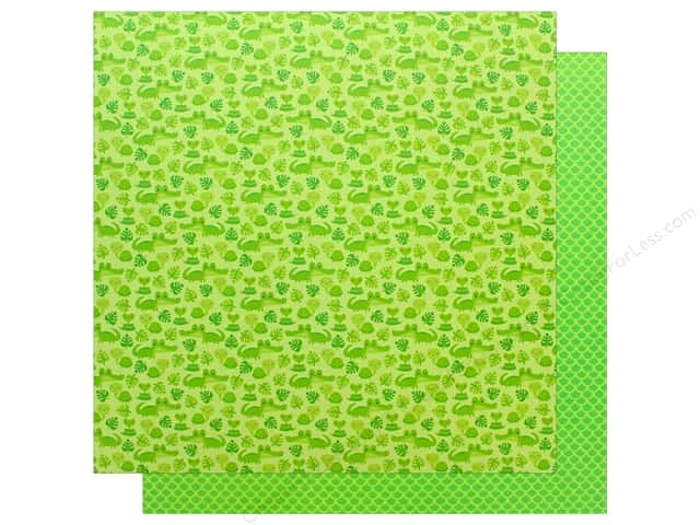 "Doodlebug Collection At The Zoo Paper 12""x 12"" Later Alligator (25 pieces)"